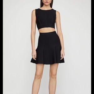 A line black miniskirt